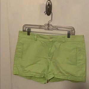 Lime Green Chino Shorts
